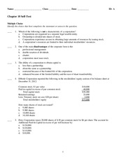 Chapter 10 - Practice Test and Solutions
