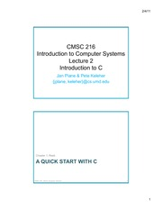 2 Introduction to C