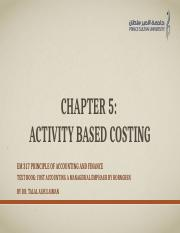 Chapter 5 Activity-Based Costing and Activity Based Management.pptm
