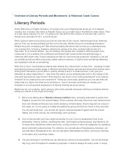 Overview of Literary Periods and Movements.docx