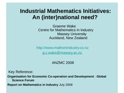 IndustrialMathematicsInitiatives