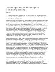 community policing-position paper docx - Running head