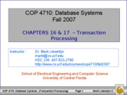 chapters 16 and 17 - transaction processing
