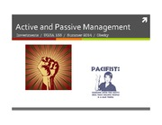 UGBA 133 Active and Passive Management