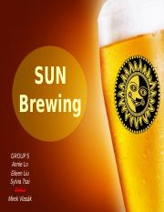 SUN brewing_final version group5