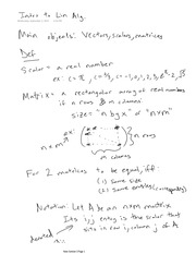 Linear Algebra - Entire Class Notes