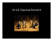 Ch.14 - other classical genres