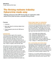 The thriving malware industry Cybercrime made easy