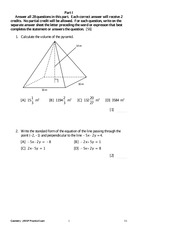GeometryPracticeExamVersion1