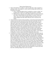 Observational Writing Essay