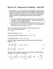 Physics 325 HW 10 Solutions