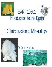 3. EART 10301 - Introduction to Mineralogy(1).ppt