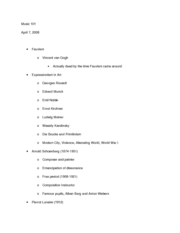 Music 101 notes 4-7-08