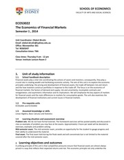 UoS outline ECON3022year2014(1)