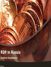 RDP Russia Presentation.ppt
