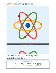 Probability - Probability trees and multiplication law.docx
