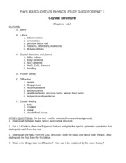 Study guide for part (1)