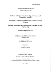 DT009 exam 2014 solutions