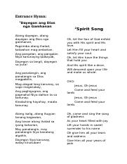 SONGS FOR HOLY MASS.docx