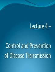 Lecture 4 - Control and Prevention of Disease Transmission; Investigating an Outbreak.pdf
