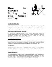 How to Survive Sitting in The Office All Day.docx