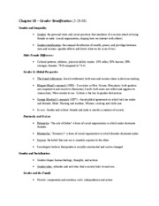 Sociology-Chapter 10 Notes