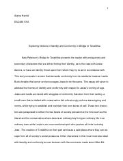Bridge to Terabithia Essay.docx