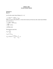 exam mlc may solutions