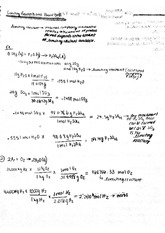 limiting reagent and percent yield answers