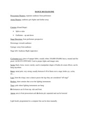 Dance Appreciation Study Guide Test 1