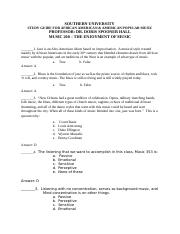 SOUTHERN UNIVERSITY AFRICAN AMERICAN AND AMERICAN POPULAR MUSIC TEST-1