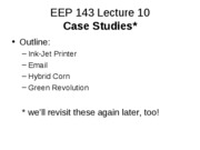 EEP 143 Lecture 10F