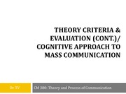 2 Cognitive Approach to Mass Communication