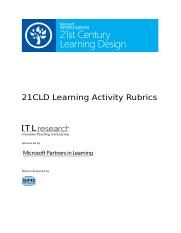 5 - 21CLD Learning Activity Rubrics 2012.docx