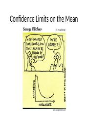 19_Confidence Limits on the Mean (Full notes)