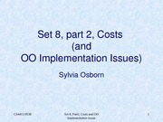 set 8.2 - Costs & OO Implementation Issues