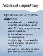 Approaches and Evolution of Management