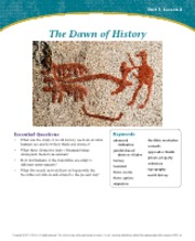 The Dawn of History Unit 1 Lesson 2