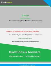Cisco 300-115 [2019] Exam Questions and Discount