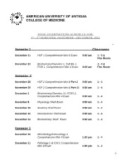 Final Examinations Schedule Semesters 1 - 3%2c November - December%2c 2012 (1)