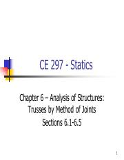 CE 297 - Fall 2014 - Chapter 6 - Analysis of Structures - Method of Joints - Sections 6.1-6.5