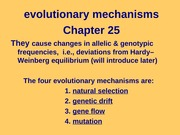 BIOS 1710 F13 Day 7 chap 25 causes of evolution(1)