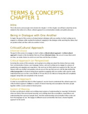 Chapter 1 Terms and Concepts
