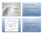 Lecture Three Geographic Location & Navigation