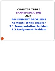MANAGEMENT SCIENCE - CHAPTER THREE.ppt