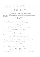 Lecture 15 on Fourier Series III