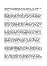 French revolution compared to american revolution essay