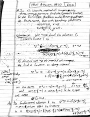 Homework 10 Solution  on Mathematical Methods in Science and Engineering 2