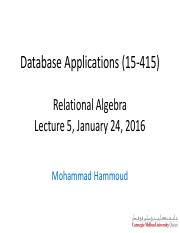 Lecture5-Relational_Algebra-MHH-24Jan-2016