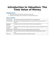 Lecture 2- Introduction to Valuation The Time Value of Money